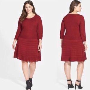 Bogo 1/2 off!  Wine Ribbed Sweater Dress Like New